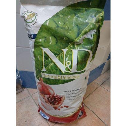N&D Grain Free Dog Puppy Maxi Chicken/Pomegranate 12kg