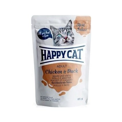 Happy Cat kapsa Meat in Sauce Adult Kuře a kachna 85g