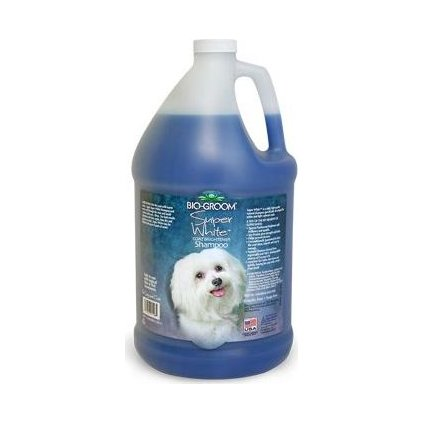 Šampon Bio-Groom Super White tónovací pes 3,8l