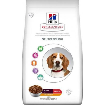 Hill's VetEssentials Canine Adult NeuteredDog Medium Chicken 10 kg NOVÝ