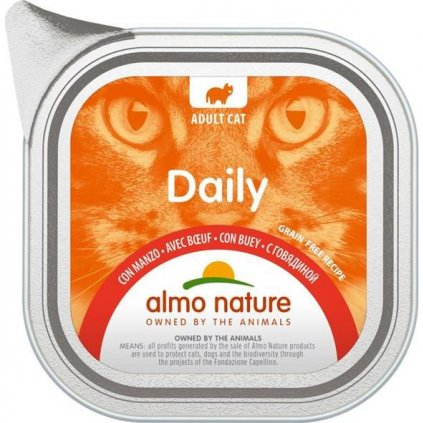 Almo Nature Daily Menu cat van. hovězí 100g
