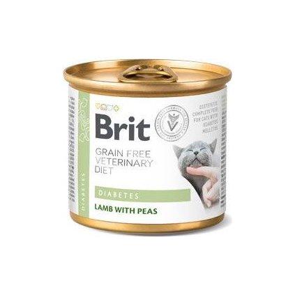 Brit Veterinary Diets Cat konz. Diabetes 200 g
