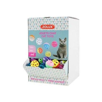 Hračka kočka Display zvonící míčky 1ks Zolux