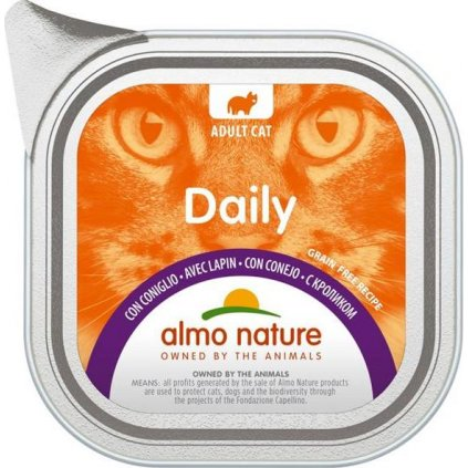 Almo Nature Daily Menu cat van. králík 100g