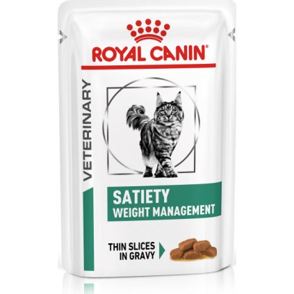 Veterinary Health Nutrition Cat Satiety Pouch 12x-0.085Kg