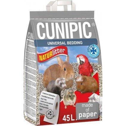Podestýlka hlod. Naturlitter paper Cunipic 45 l