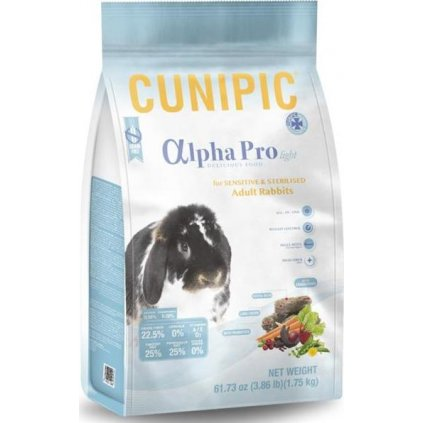 Cunipic Alpha Pro Rabbit Light/Sensitive - králík senz. 1,75kg