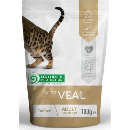 Nature's Protection Cat kaps. Indoor with Veal 100g