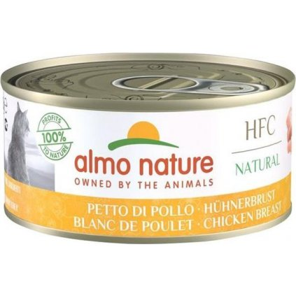 Almo Nature cat konz. Natural-kuřecí prsa 150 g