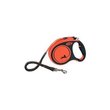 Vodítko FLEXI Xtreme L pásek 5m/65kg oranžová