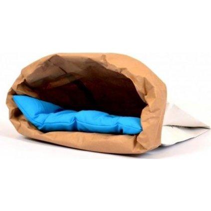 Pelech cat papír+textil Polštář modrý EBI 44 x 28 x 3 cm