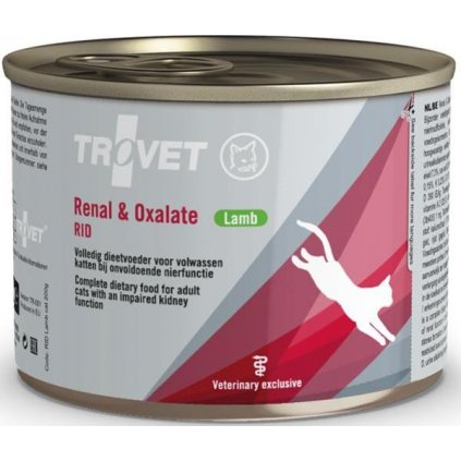 Trovet Feline RID Renal and Oxalate konzerva lamb 200g