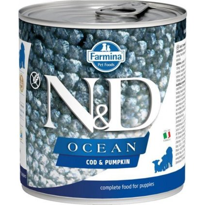 N&D OCEAN Dog konz. Puppy Codfish & Pumpkin 285 g- DOPRODEJ