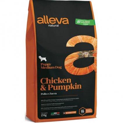 ALLEVA NATURAL Dog Dry Puppy Chicken&Pumpkin Medium 2kg