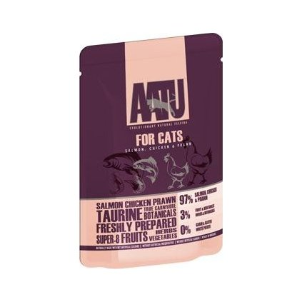 AATU Cat Salmon n Chicken n Prawn kaps. 85g (Exp.)