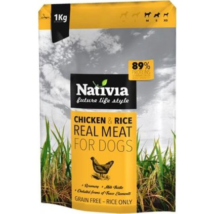 Nativia Dog REAL Meat Chicken & Rice 1 kg