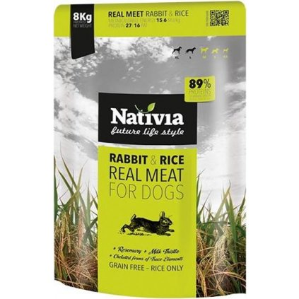 Nativia Dog REAL Meat Rabbit & Rice 8 kg