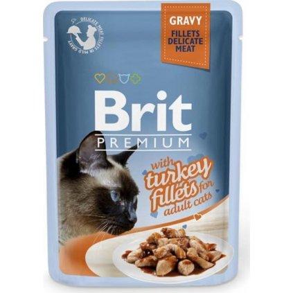 Brit Premium Cat kaps. Delicate Fillets in Gravy with Turkey 85 g