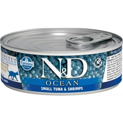 N&D OCEAN Cat konz. Adult Small Tuna & Shrimps 80 g