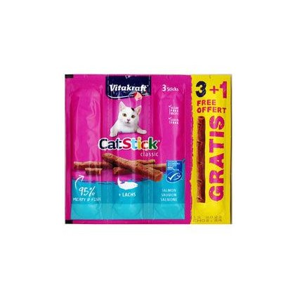 Vitakraft Stick mini cat losos 3 ks
