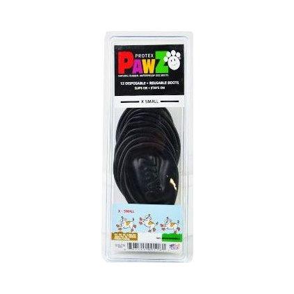 Botička ochranná Pawz kaučuk XS černá 12ks