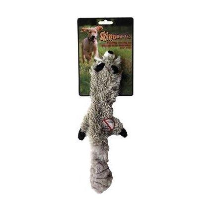 Hračka pes Mýval pískací 61cm Skinneeez