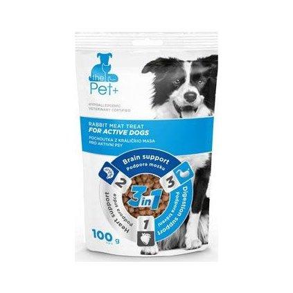 Pochoutka Pet+ 3v1 pes DOGS ACTIVE králičí 100g