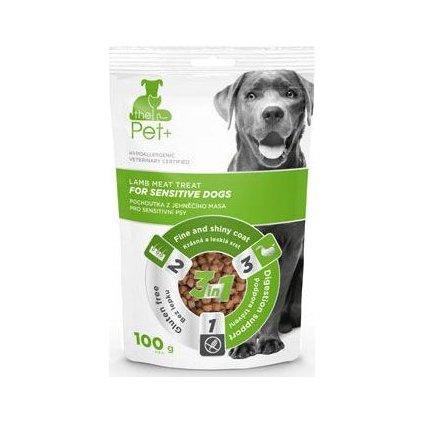 Pochoutka Pet+ 3v1 pes FOR SENSIT DOGS jehněčí 100g