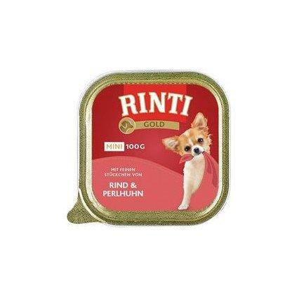 Rinti Dog Gold Mini vanička hovězí+perlička 100g