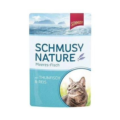Schmusy Cat kapsa Fish tuňák+rýže 100g