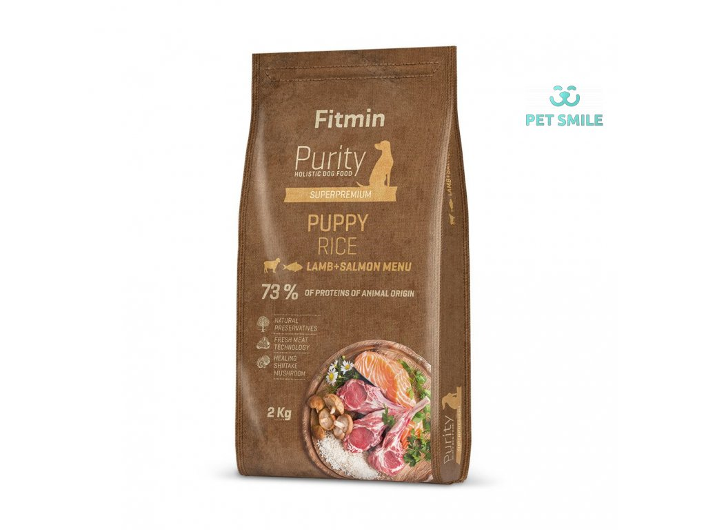 Fitmin dog Purity Rice Puppy Lamb&Salmon - 2 kg
