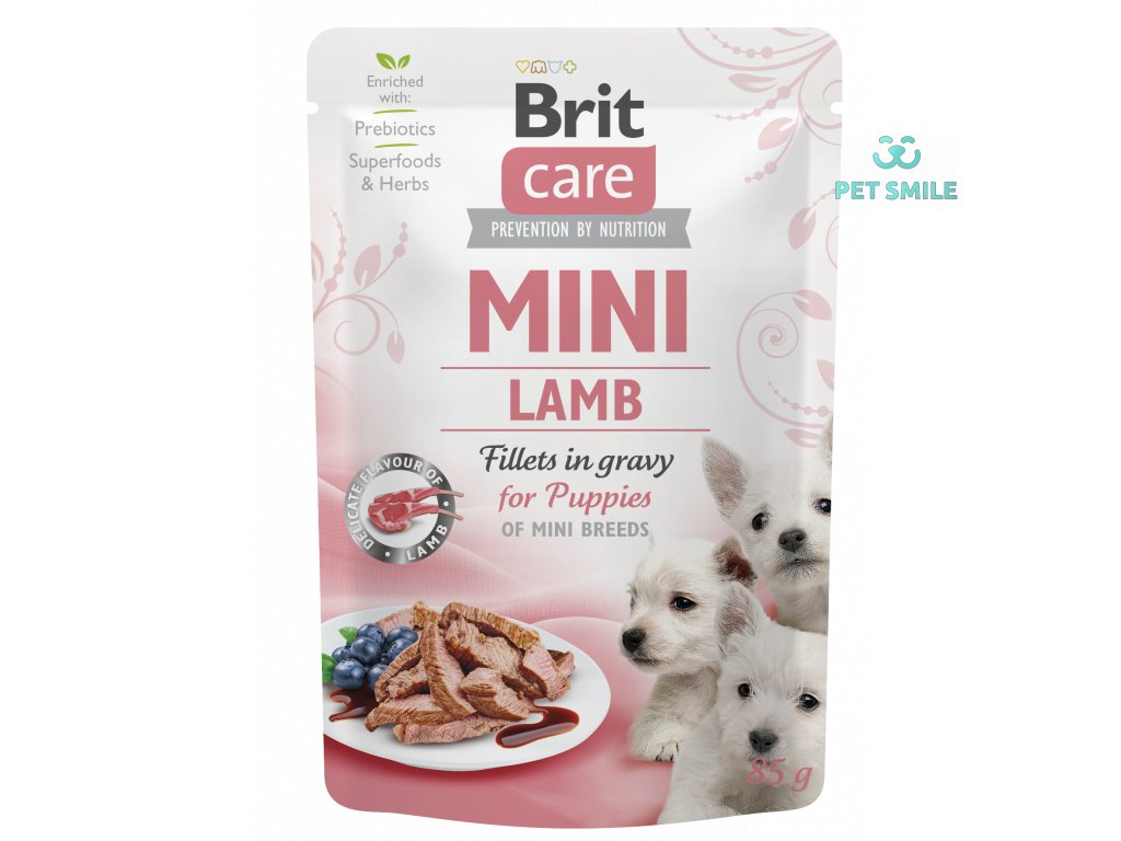 Brit Care Mini Puppy Lamb fillets in gravy 85g