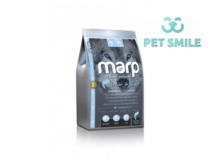 Marp Natural Senior and Light s bílou rybou - 18kg  + Marp Treats Buffalo Crunchies - sušená průdušnice 50g