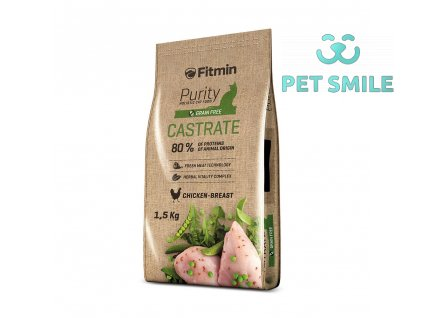 Fitmin cat Purity Castrate - 1,5 kg