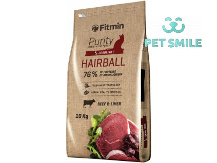 Fitmin cat Purity Hairball - 10 kg