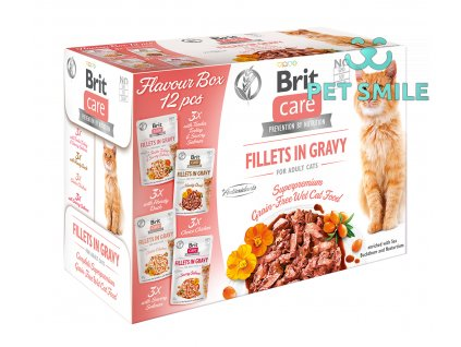 Brit Care Cat Flavour box Fillet in Gravy 4x3ks 12x85g