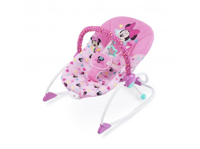 Disney Houpátko vibrující Minnie Mouse Stars & Smiles Baby 0m +, do 18kg