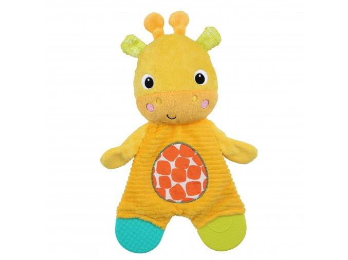 Bright Starts Hračka - kousátko Snuggle&Teethe žirafa
