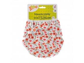 jednovelikostni kojenecke plavky xkko red poppies c19