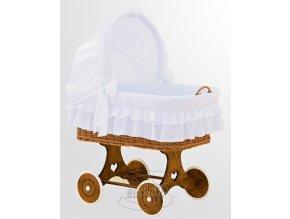 Proutěný koš na miminko Scarlett Martin - PLNĚ VYBAVENÝ Barva bílá