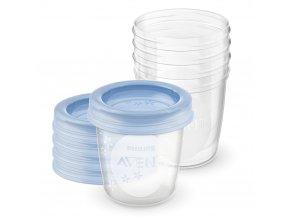 Avent VIA pohárky 180 ml s víčkem - 5ks