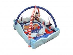 Baby Mix Hrací deka + ohrádka Medvěd námořník