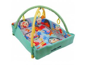Baby Mix Hrací deka ohrádka SOVY A VEVERKA