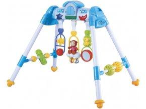 Baby Mix Dětská hrající edukační hrazdička De Lux blue