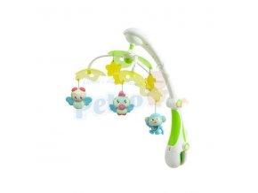 Baby Mix Kolotoč elektrický nad postýlku s projektorem, zelený