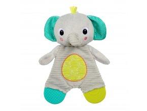 Bright Starts Hračka - kousátko Snuggle&Teethe slon