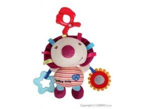 plysova vibracni hracka babymix jezek j13