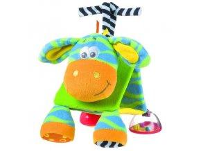 vyr 118Playgro plysovy trojuhelnik zebra JUNGLE
