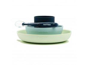 NATTOU Set jídelní silikon 4 ks bez BPA