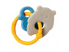 anneau de dentition silicone ours gris